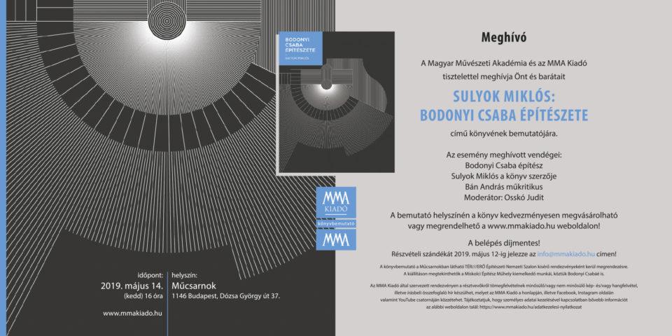 Bodonyi Csaba építészete – könyvbemutató