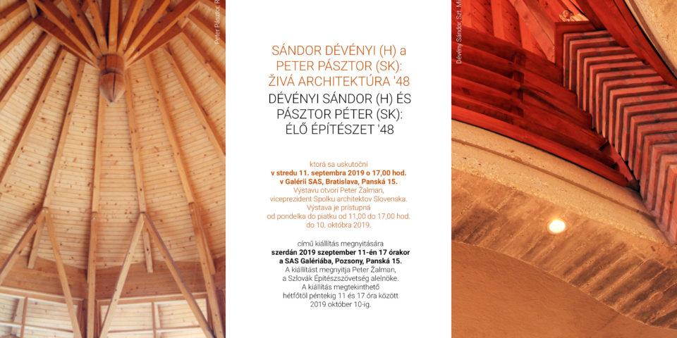 Dévényi Sándor és Pásztor Péter közös kiállítása Pozsonyban
